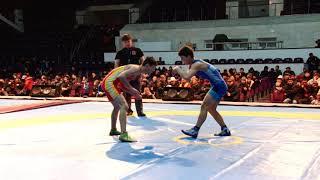 Спорт. Вольная борьба. Чемпионат Кыргызстана среди юниоров-2020. День 1 Мат A1
