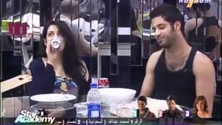 star academy 8.19/5/2011.حديث بين سارة وحسام ودقدوق عن التصويت
