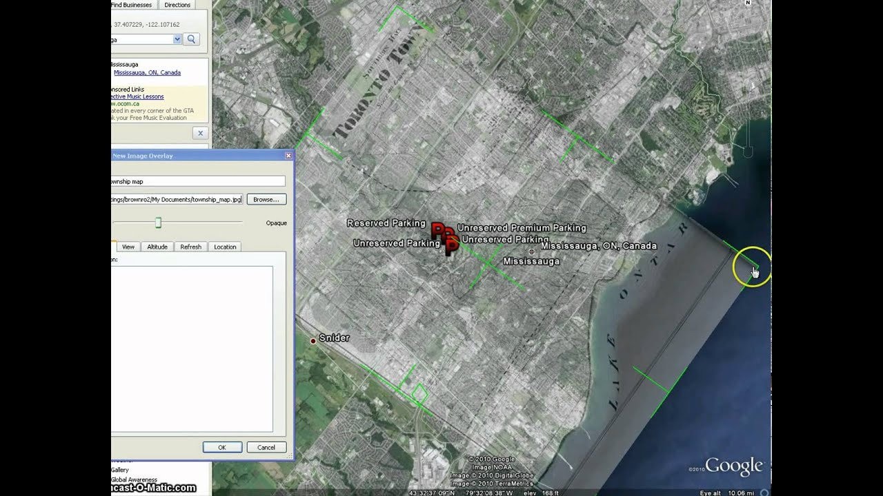 Adding Image Overlays In Google Earth Youtube