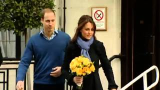 Kate leaves hospital after morning sickness treatment