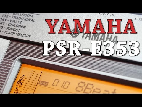 Yamaha PSR-E353 Beginner Keyboard at Cranbourne Music