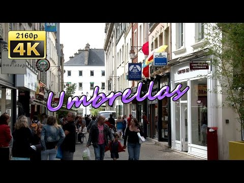 "Parapluies ""Le Veritable Cherbourg"", Normandy - France 4K Travel Channel"