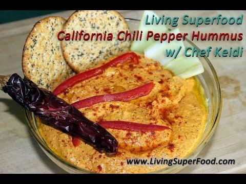 California Chili Pepper Raw Hummus with Chef Keidi