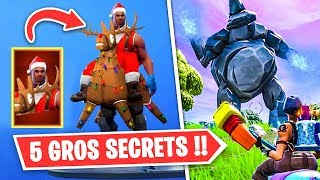 5 TOP SECRET MYSTERIES on FORTNITE!! It's unbelievable!!