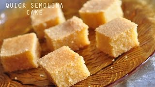 Baked Semolina Squares - Easy And Quick