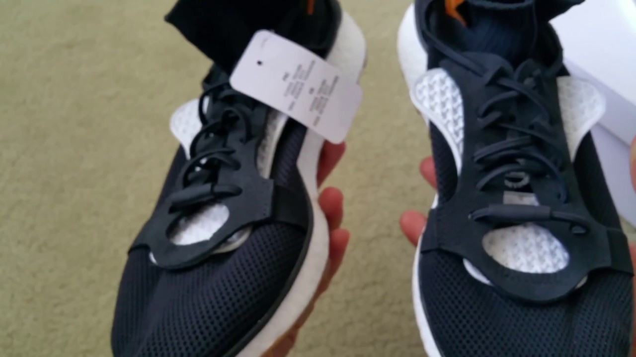 48effb51dc7 Unboxing New Adidas Originals Alexander Wang Run Boost Shoes + On Feet Clip  Full HD 2017
