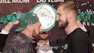 TYSON FURY & OTTO WALLIN GO FACE TO FACE AT FINAL PRESS CONFERENCE IN LAS VEGAS