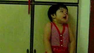 """Kid singing Malaysia National Song """"Negaraku"""""""