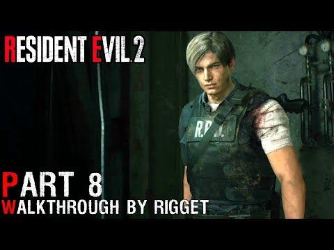 """Resident Evil 2 Remake LEON Прохождение Часть 8 """"Ужасы канализации"""""""