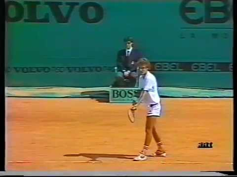 1987 Monte Carlo Open Final - Jimmy Arias vs Mats Wilander - Part 1