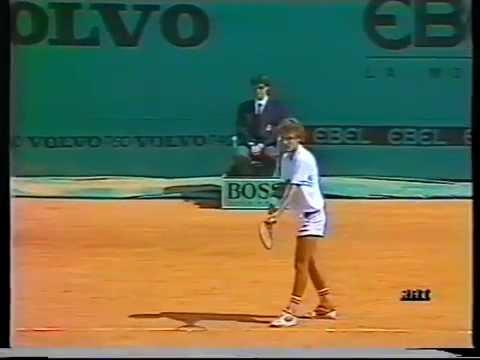 1987 Monte Carlo Open Final - Jimmy Arias vs Mats Wilander - Part 1