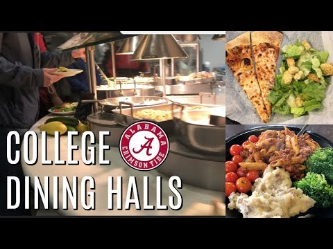 WHAT I EAT IN A WEEK | College Dining Halls