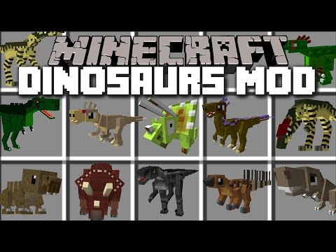 Minecraft PORTAL TO THE DINOSAUR DIMENSION MOD / TRAVEL AND FIGHT AGAINST DINOSAURS!! Minecraft