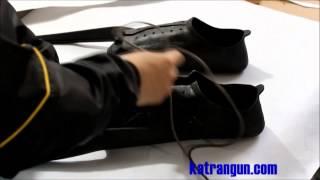 Как правильно расшить калошу для ласт, шнуровка ласт(http://katrangun.com - портал дайвинга и подводной охоты. http://katrangun.prom.ua - магазин подводного снаряжения в центре Киев..., 2014-04-30T06:48:39.000Z)