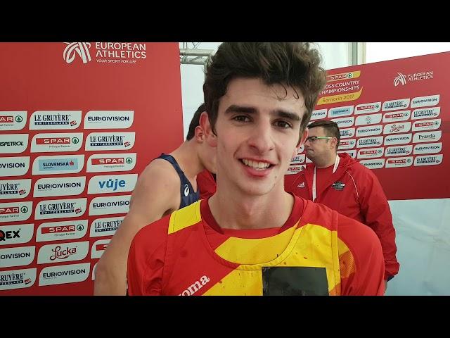 Miguel González, quinto clasificado en el campeonato de Europa sub 20 de cross