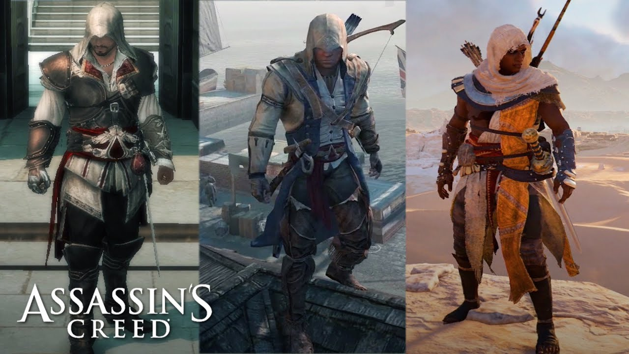 Assassin S Creed All Main Character Outfits All Ac Legacy