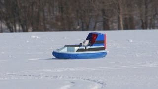 My RC Hovercraft In The Snow!