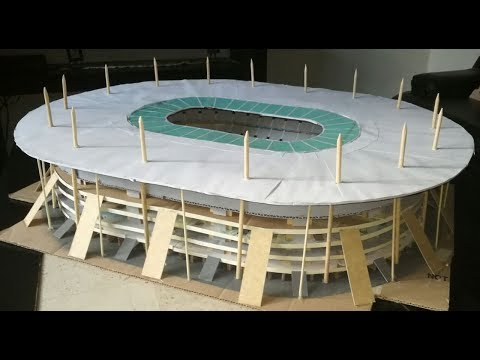 Como hacer un estadio de fútbol   Stade de France 3/3   Estadios miniatura   Maqueta de estadios