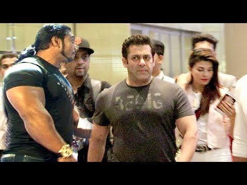 Race 3: Salman Khan's Macho ENTRY With Bodyguards At Mumbai Airport Retrurning From Bangkok Shoot