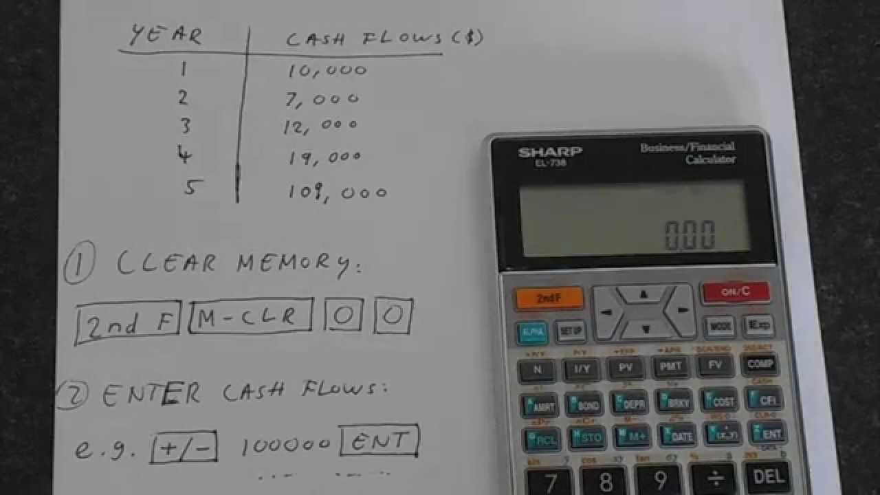 Sharp EL-738: Internal Rate of Return (IRR) - YouTube