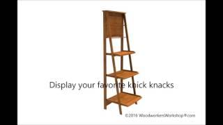 05 WC 0944 Folding Ladder Display Shelf