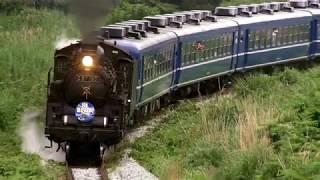 【4K UHD】SL青い12系客車号 磐越西線【2016年6月】