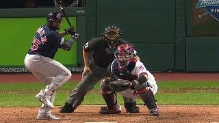 Плей-офф MLB. Полуфинал Американской Лиги: Кливленд Индианс - Бостон Ред Сокс. Матч 1 (6.10.2016)