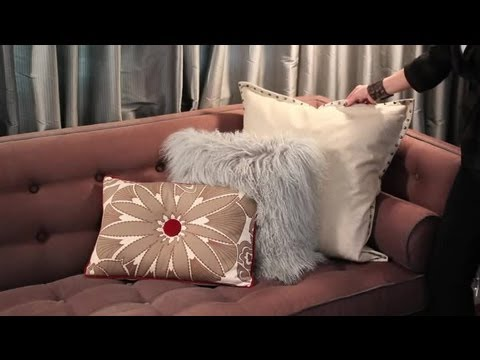 How to Decorate a Brown Sofa With Pillows  Easy Designing  Decorating Tips  YouTube