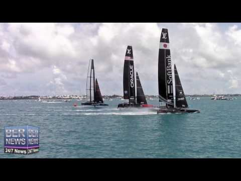 America's Cup Test A45s Drag Race At Foil Fest, June 25 2016