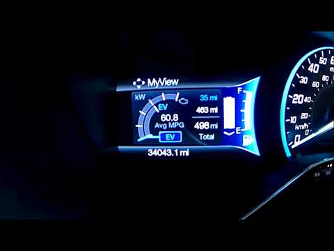 Ford Cmax Energi EV Range on Full Battery Charge