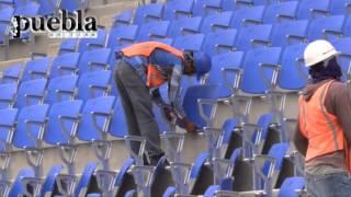 Así avanza la remodelación del interior del estadio Cuauhtémoc
