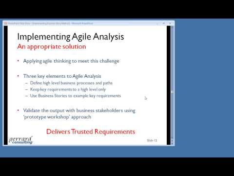 Susan Windsor: Implementing Business Story Method within agile and or structured projects