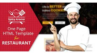 Spicy Aroma One Page HTML | Themeforest Website Templates and Themes
