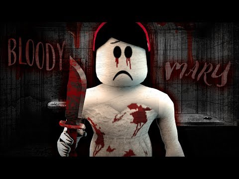 BLOODY MARY! Roblox SCARY STORIES