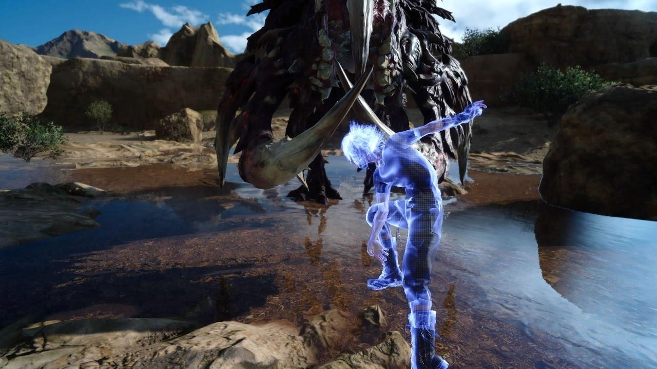 【PS4 PRO】隠しボス?強敵『バンダースナッチ』戦 FF15 体験版