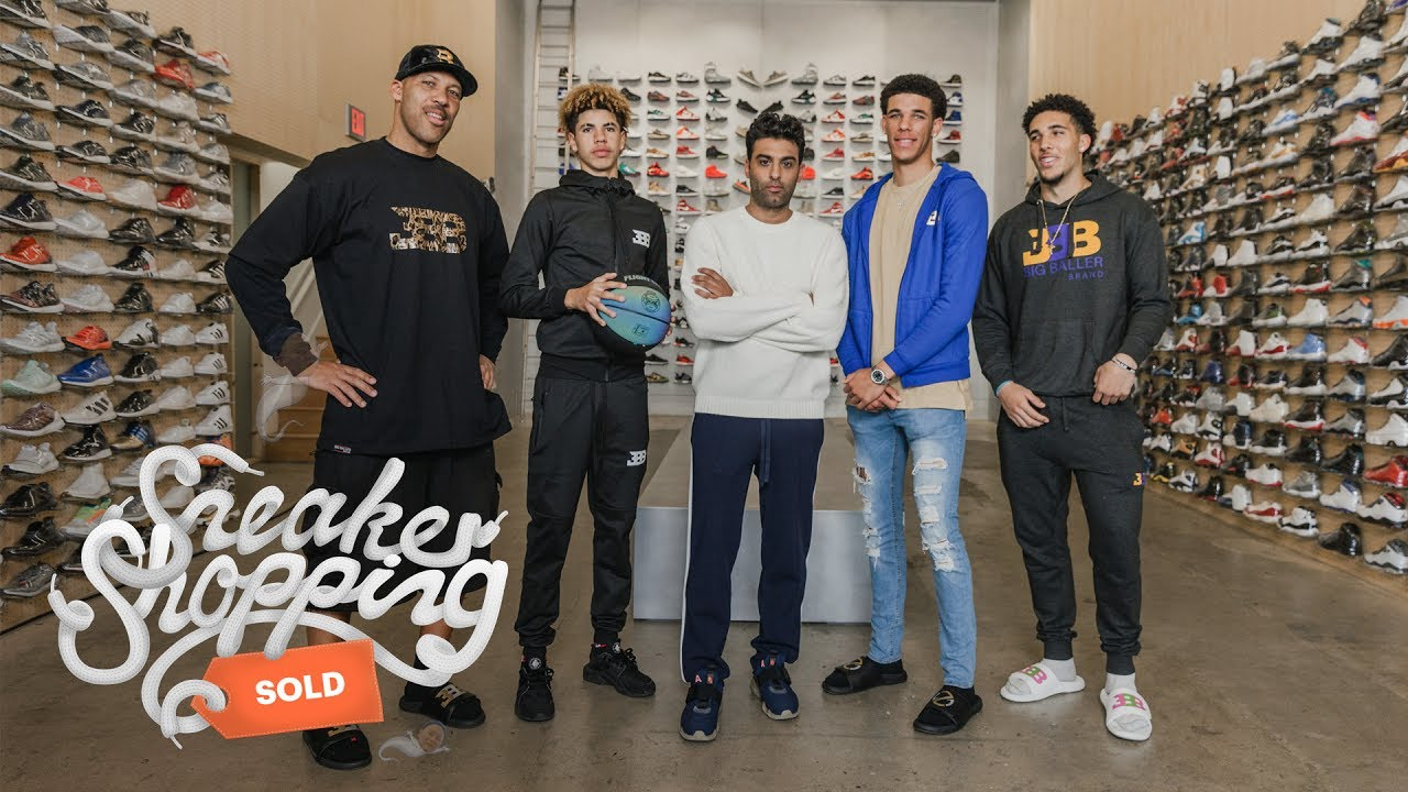 1e2673fb345 The Ball Family Goes Sneaker Shopping With Complex - YouTube