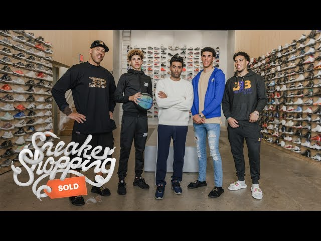 The Ball Family Goes Sneaker Shopping With Complex