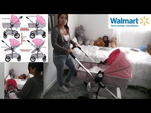 costway-2-in1-foldable-baby-stroller-kids-travel-newborn-infant-buggy-pushchair-pink
