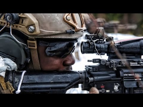 Marines Shoot Rifles With Suppressors In The Snow