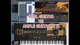 Cover images Real Guitar (Musiclab) vs Ample Guitar M II