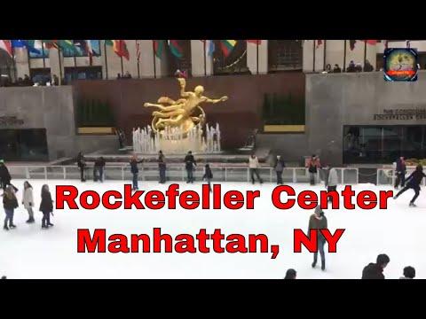 Walking around Rockefeller Center & 5th Ave in Midtown Manhattan, New York City