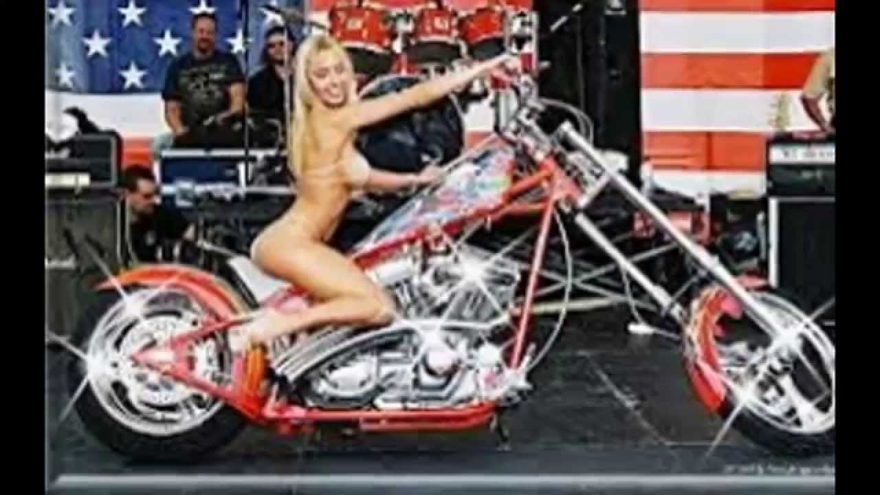Hot girls on harley motorcycles