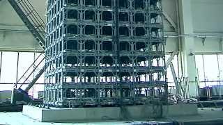 Сейсмический тест на 30 этажное здание в Пекинском, научно-исследовательском институте землетрясений