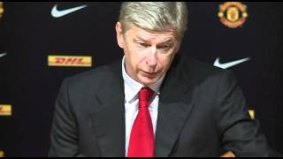 Manchester United 8-2 Arsenal - Wenger's reaction to loss | English Premier League 2011-2012