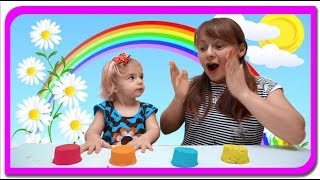 Baby learn colors with kinetic sand. Nursery rhymes songs.  Anabella Show