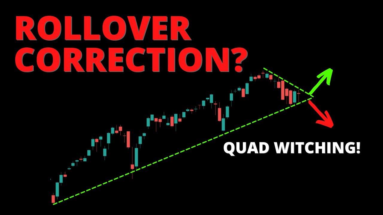 S&P500 ROLLOVER CORRECTION? (SPY, QQQ, DIA, IWM, ARKK, BTC)
