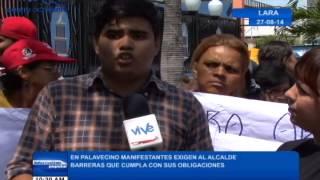 En Palavecino manifestantes exigen al alcalde Barreras que cumpla con sus obligaciones
