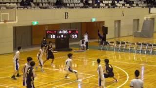 20170107高校新人戦バスケ県大会1ザベリオvs須賀川桐陽戦