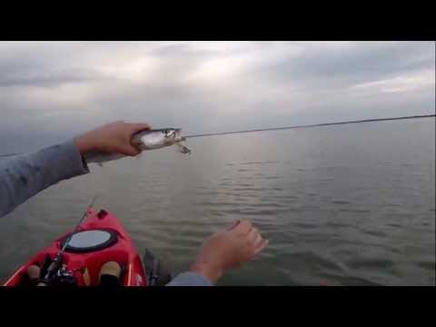 Copano Bay KAYAK FISHING - FISHING LURES all day (VUDU SHRIMP under POPPING CORK)