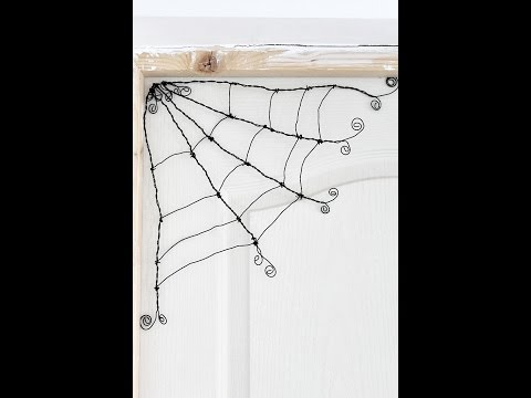How to make a wire spider web tutorial
